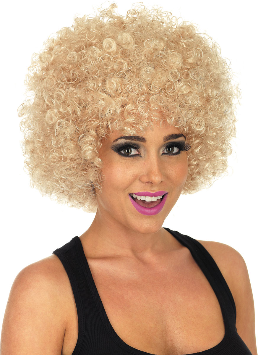 Blond Afro Wigs 104