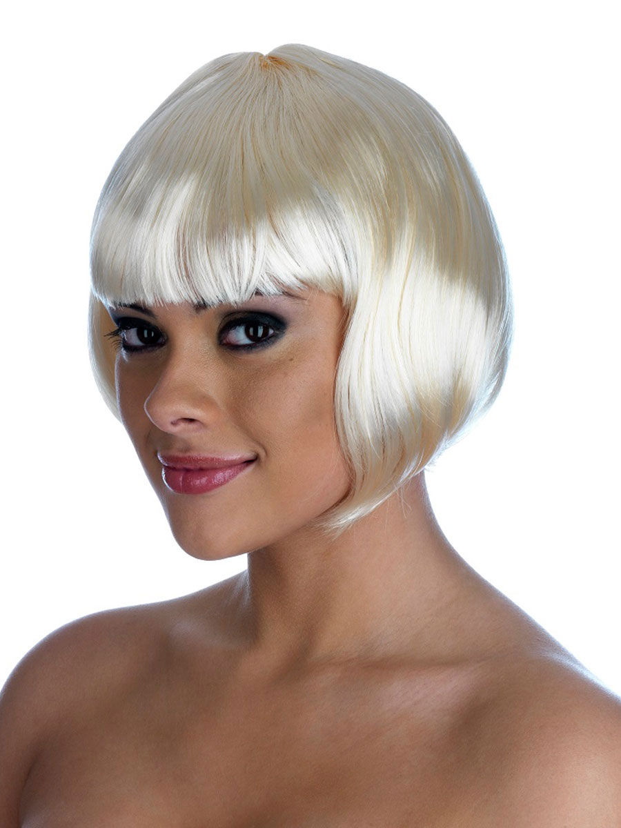Blonde Bob Wig Fancy Dress 107