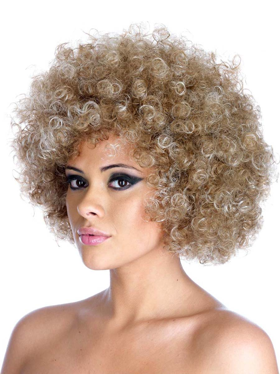 Blond Afro Wigs 10