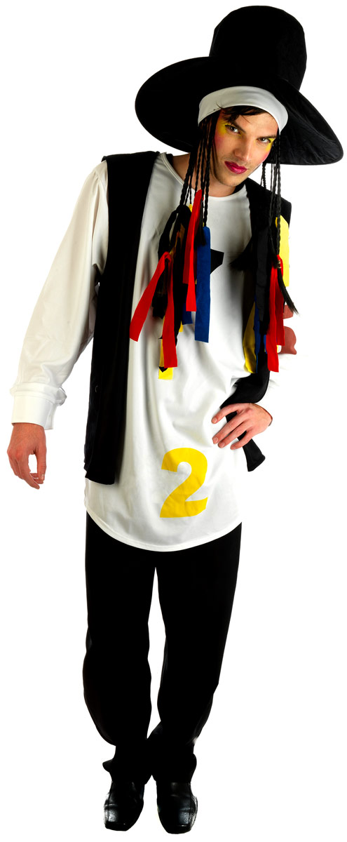 Adult Boy George 80s Pop Star Costume  sc 1 st  Fancy Dress Ball & Mens 1980u0027s Fancy Dress Costumes | Fancy Dress Ball