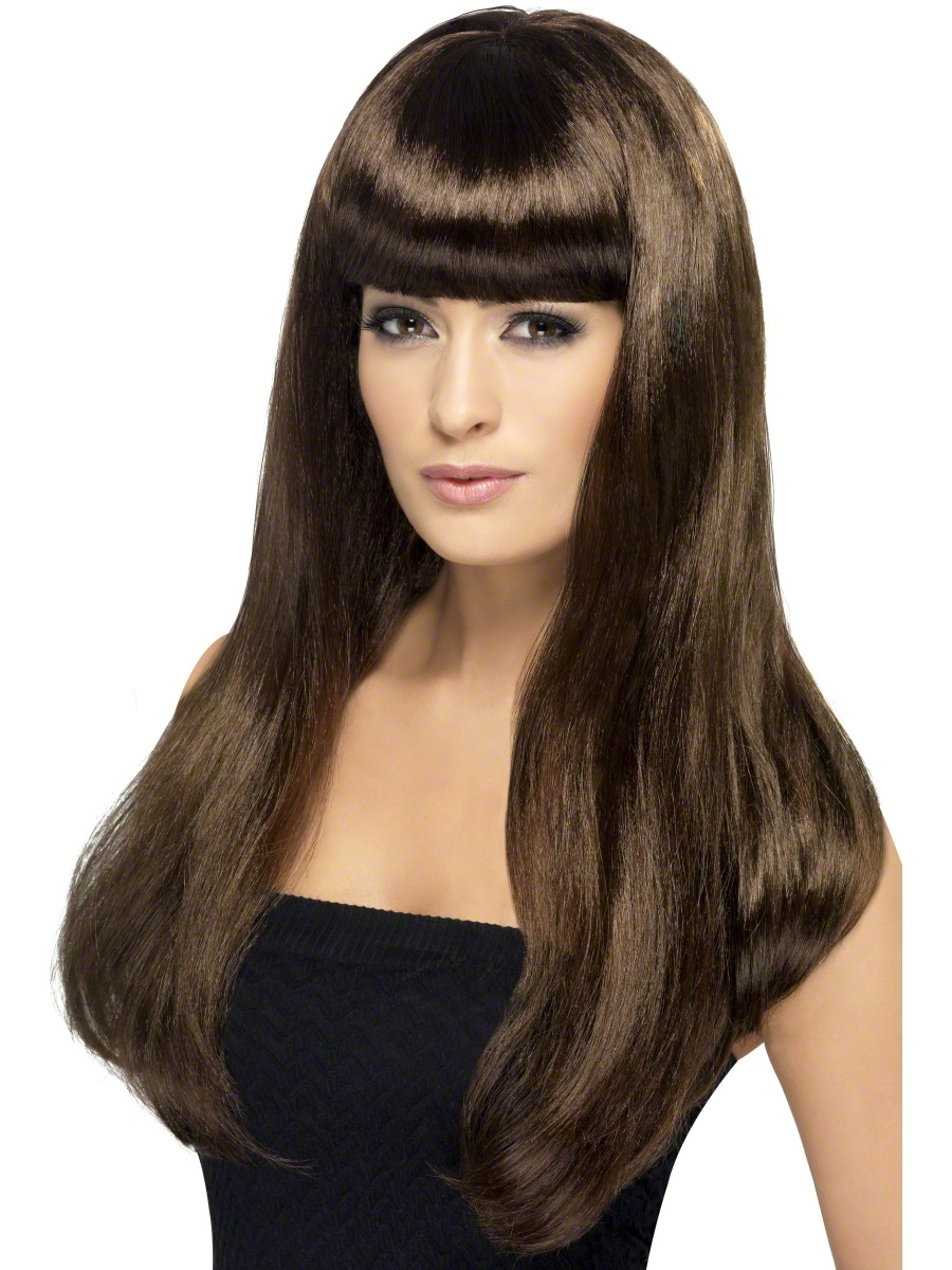 Brown Babelicious Wig 42425 Fancy Dress Ball