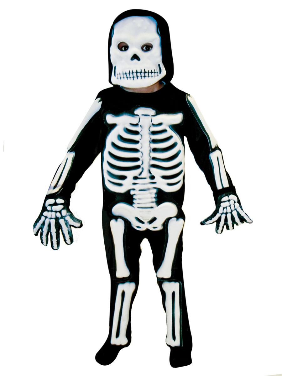 Halloween Skeleton Costume Kids.Childrens 3d Skeleton Costume