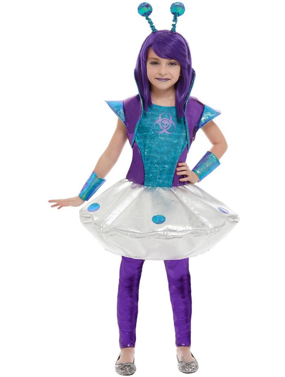 Child Alien Girl Costume 51042 Fancy Dress Ball