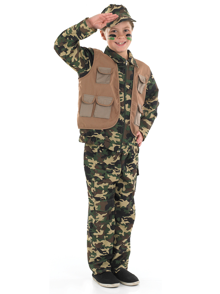 Child Army Boy Costume