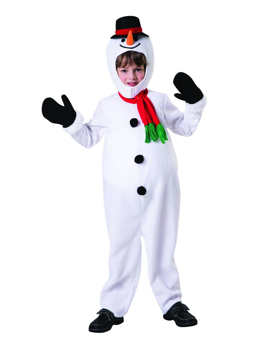 Child Big Belly Snowman Costume Cf106 Fancy Dress Ball