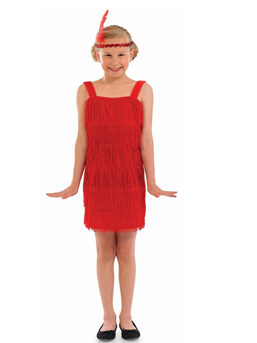 home childrens fancy dress girls fancy dress child red flapper costume