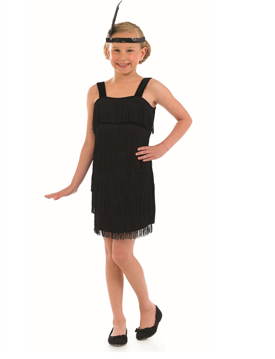 i like you letters child black flapper costume fs3602 fancy dress 22515