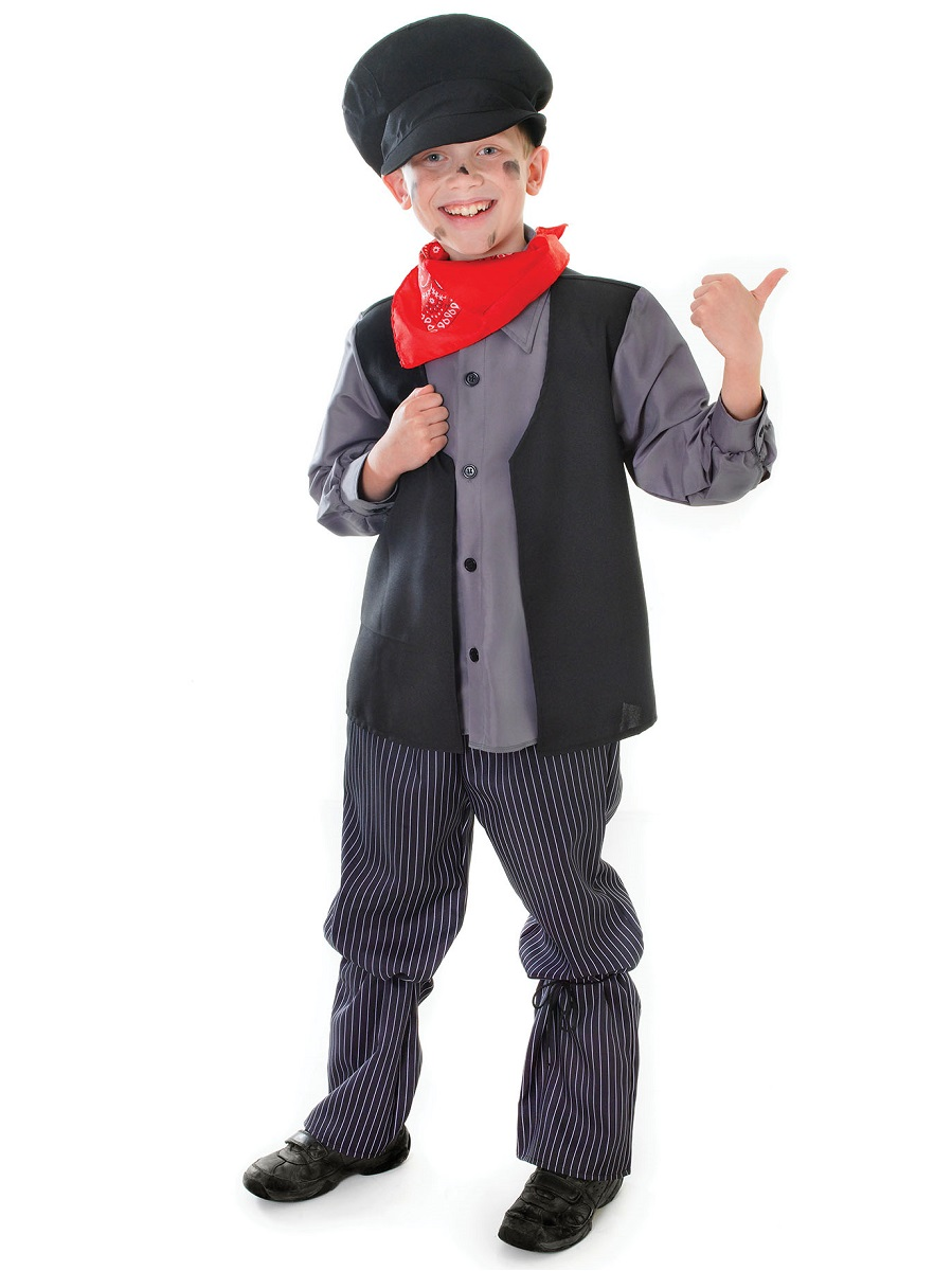 Child Chimney Sweep Boy Costume Cc197 Fancy Dress Ball
