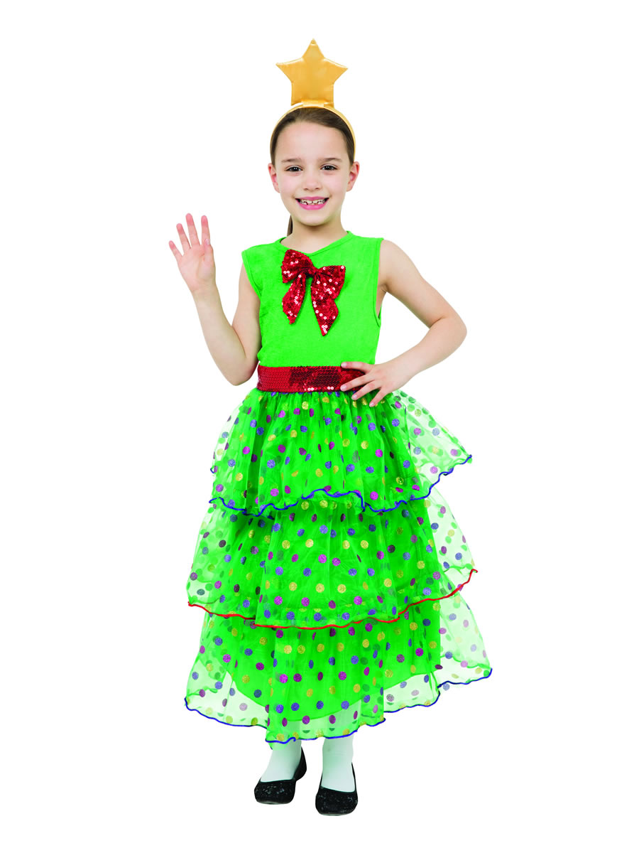 Child Christmas Tree Girl Costume Cc665 Fancy Dress Ball