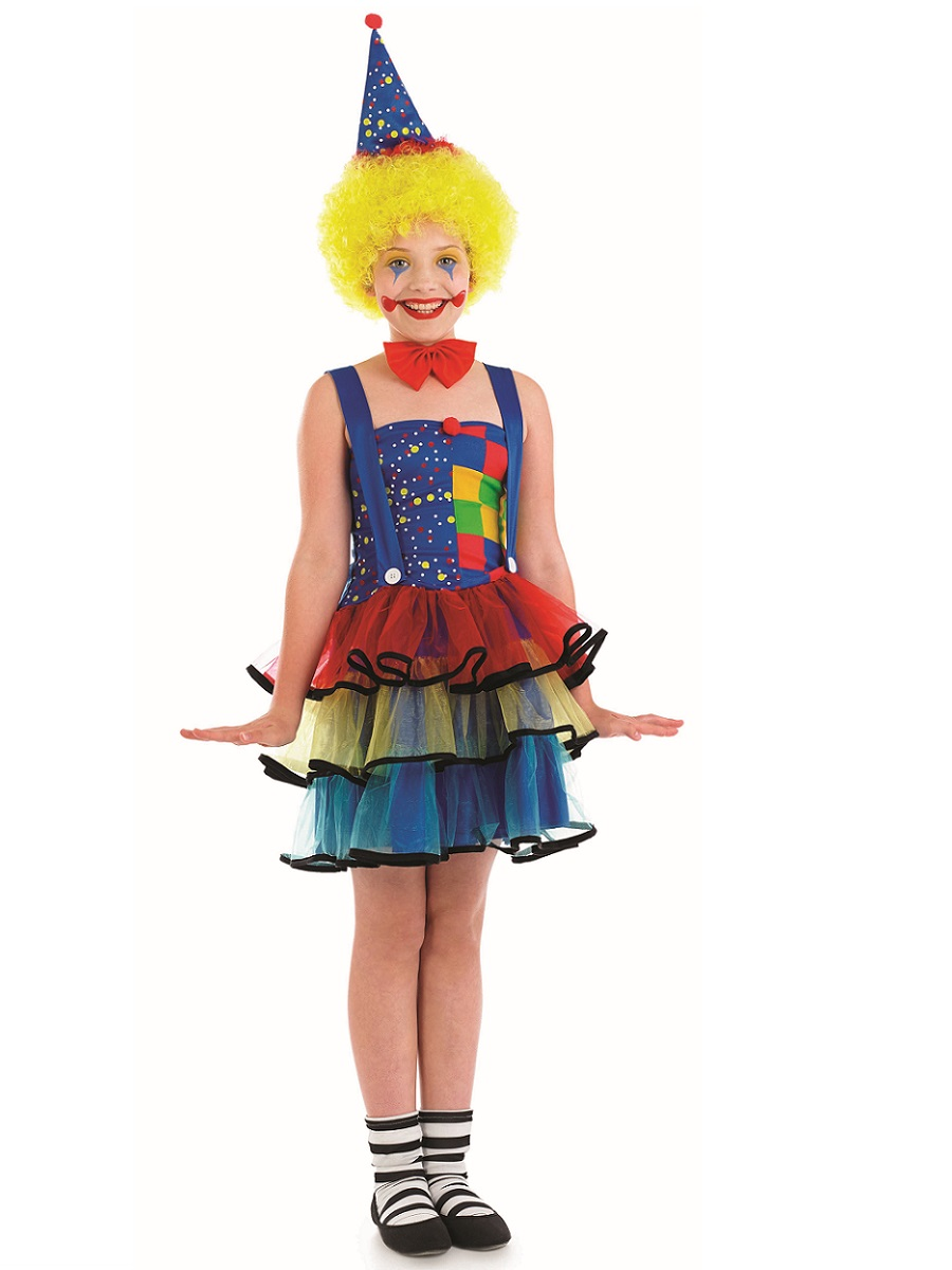 Child Cute Clown Costume  sc 1 st  Fancy Dress Ball & Clown costume Clown fancy dress Clown costumes Jester Fancy dress ...