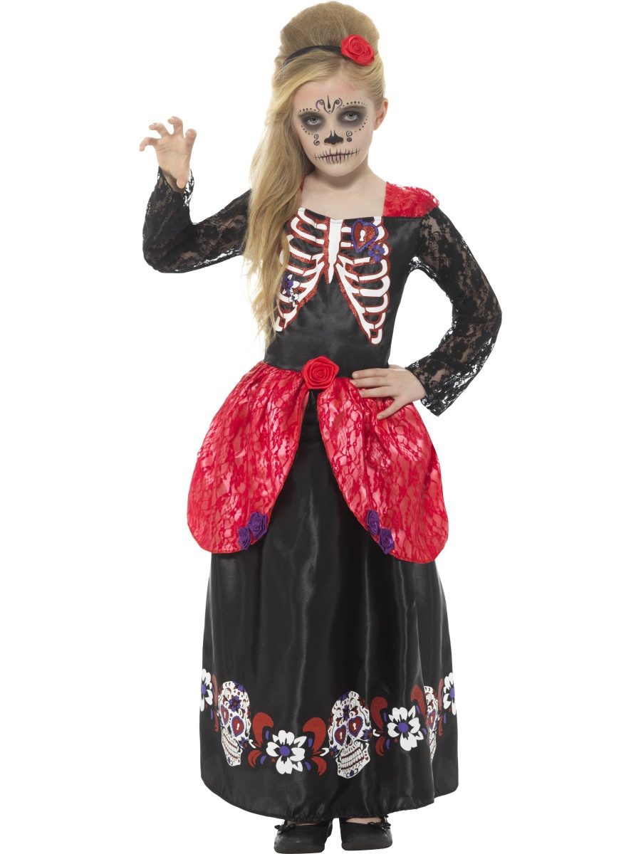 how to make a day of the dead dress