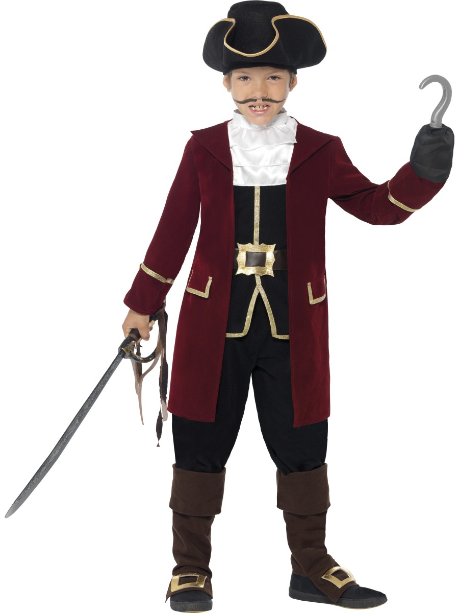 Child Deluxe Pirate Captain Costume  sc 1 st  Fancy Dress Ball & Child Deluxe Pirate Captain Costume - 43997 - Fancy Dress Ball