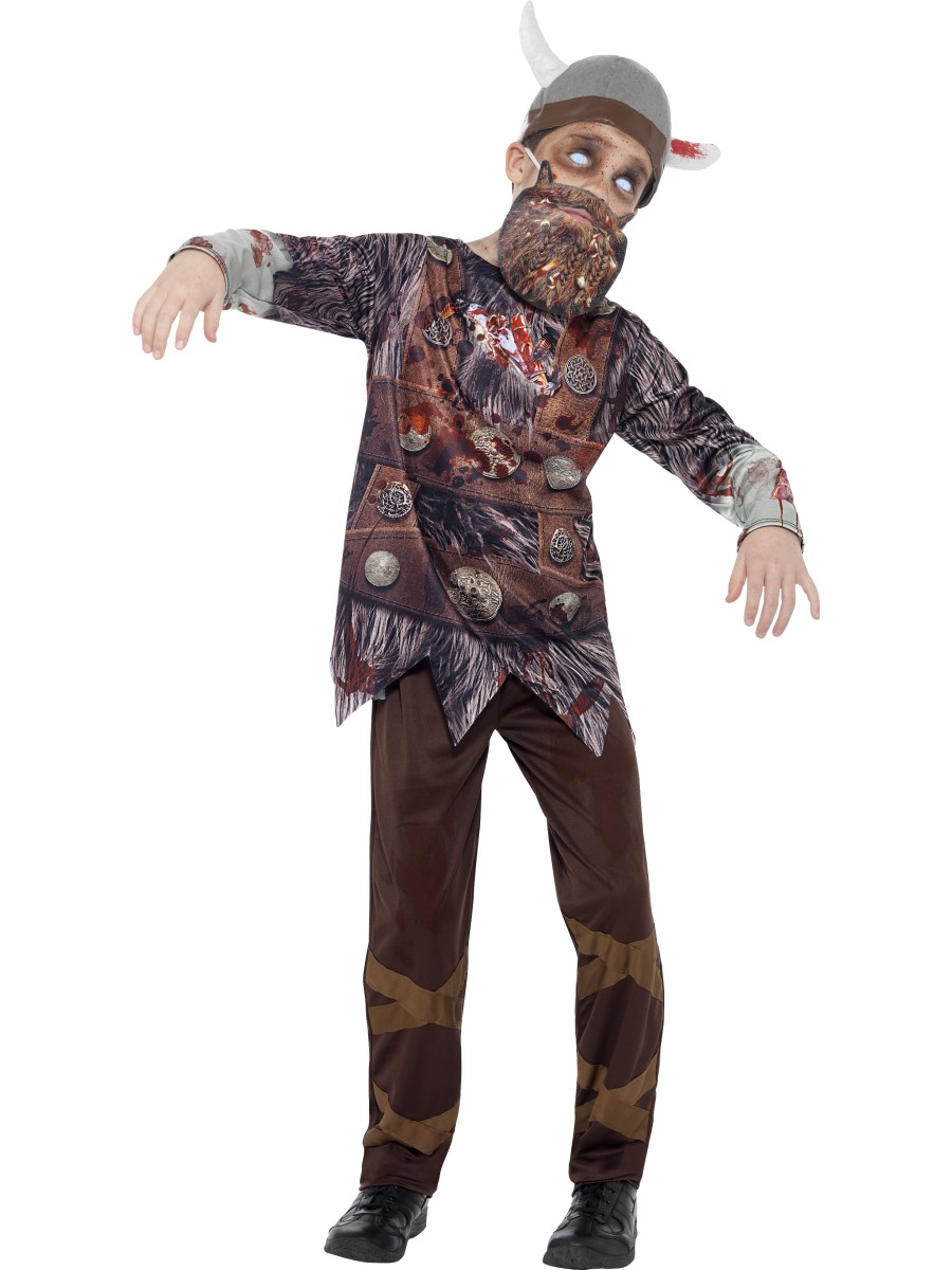 child deluxe zombie viking costume 45621 fancy dress ball. Black Bedroom Furniture Sets. Home Design Ideas