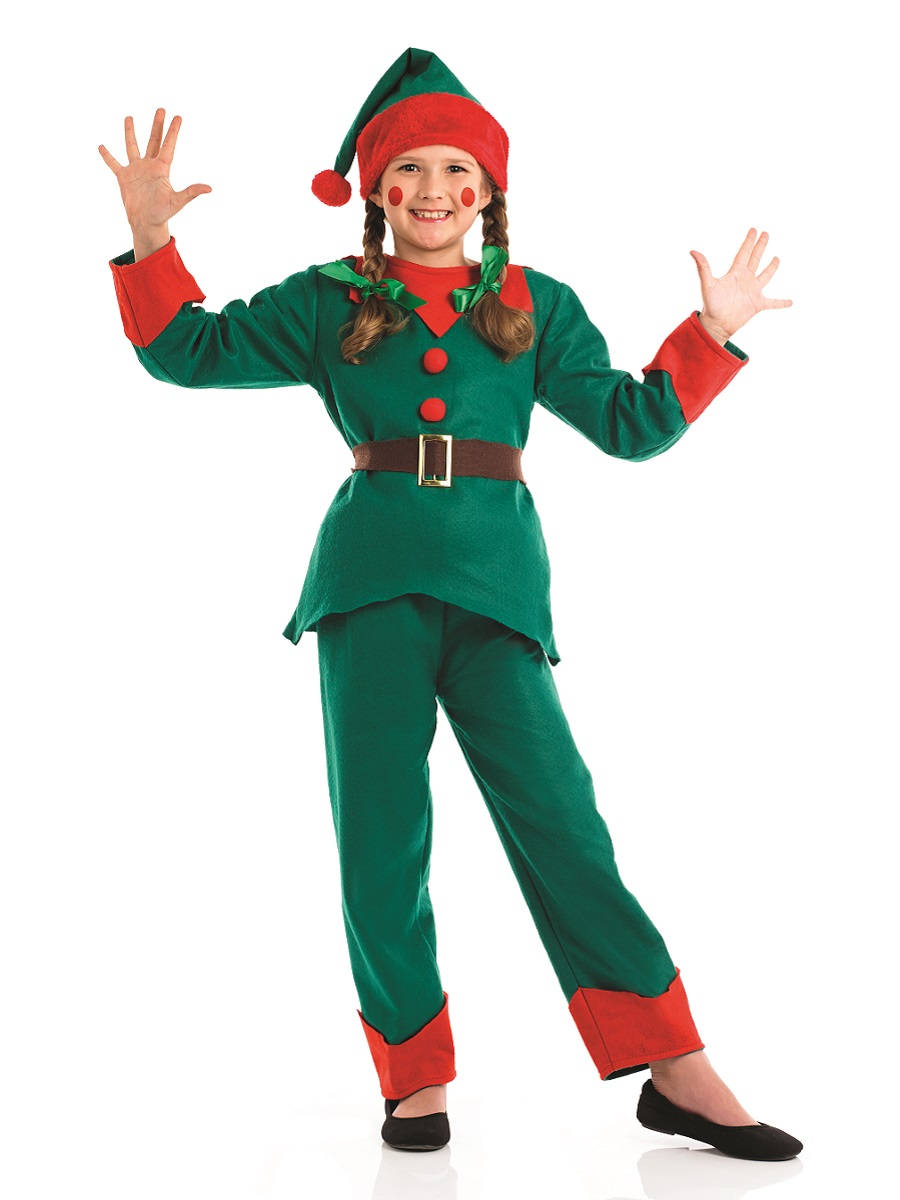 Christmas Elf Costume.Child Elf Costume