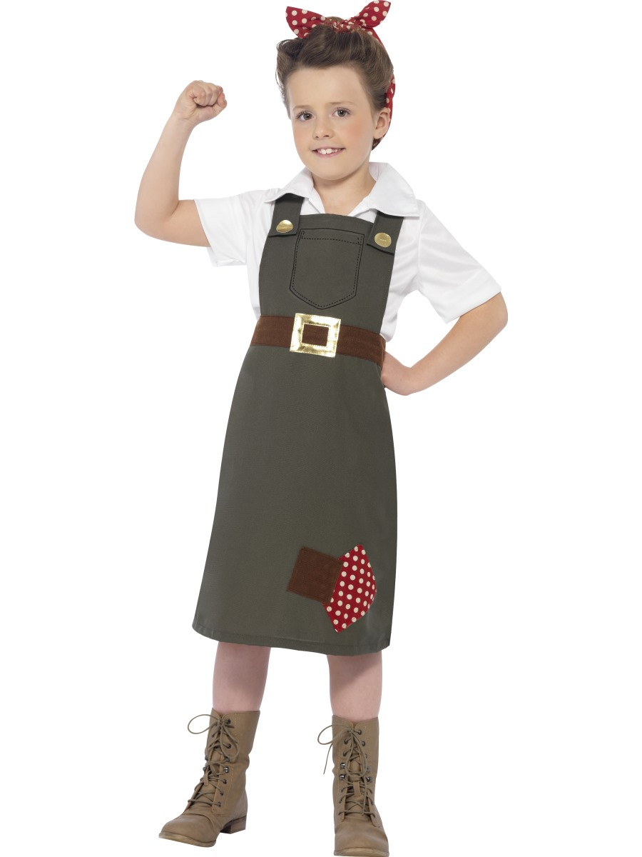Child Hard At Work Munitions Costume 27534 Fancy Dress