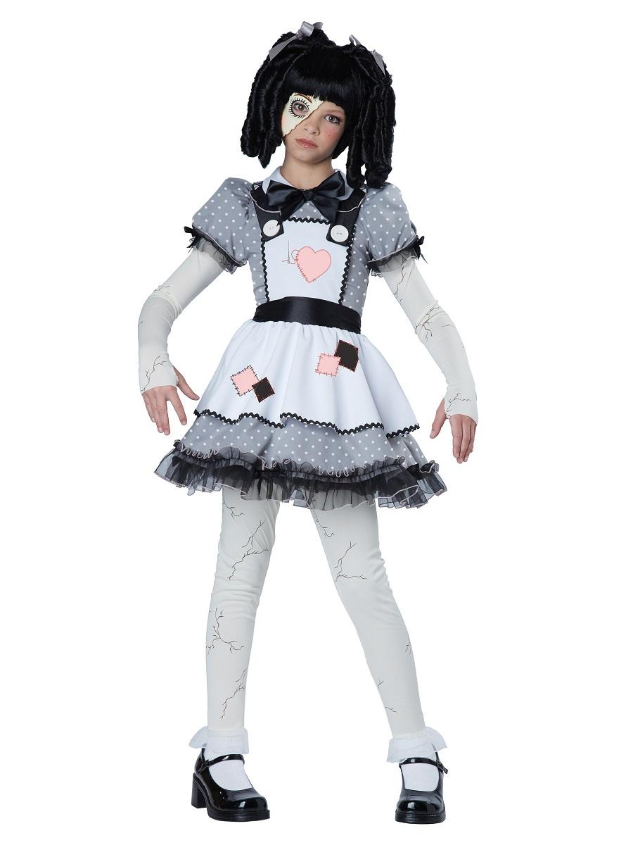 Child Haunted Doll Costume 00472 Fancy Dress Ball