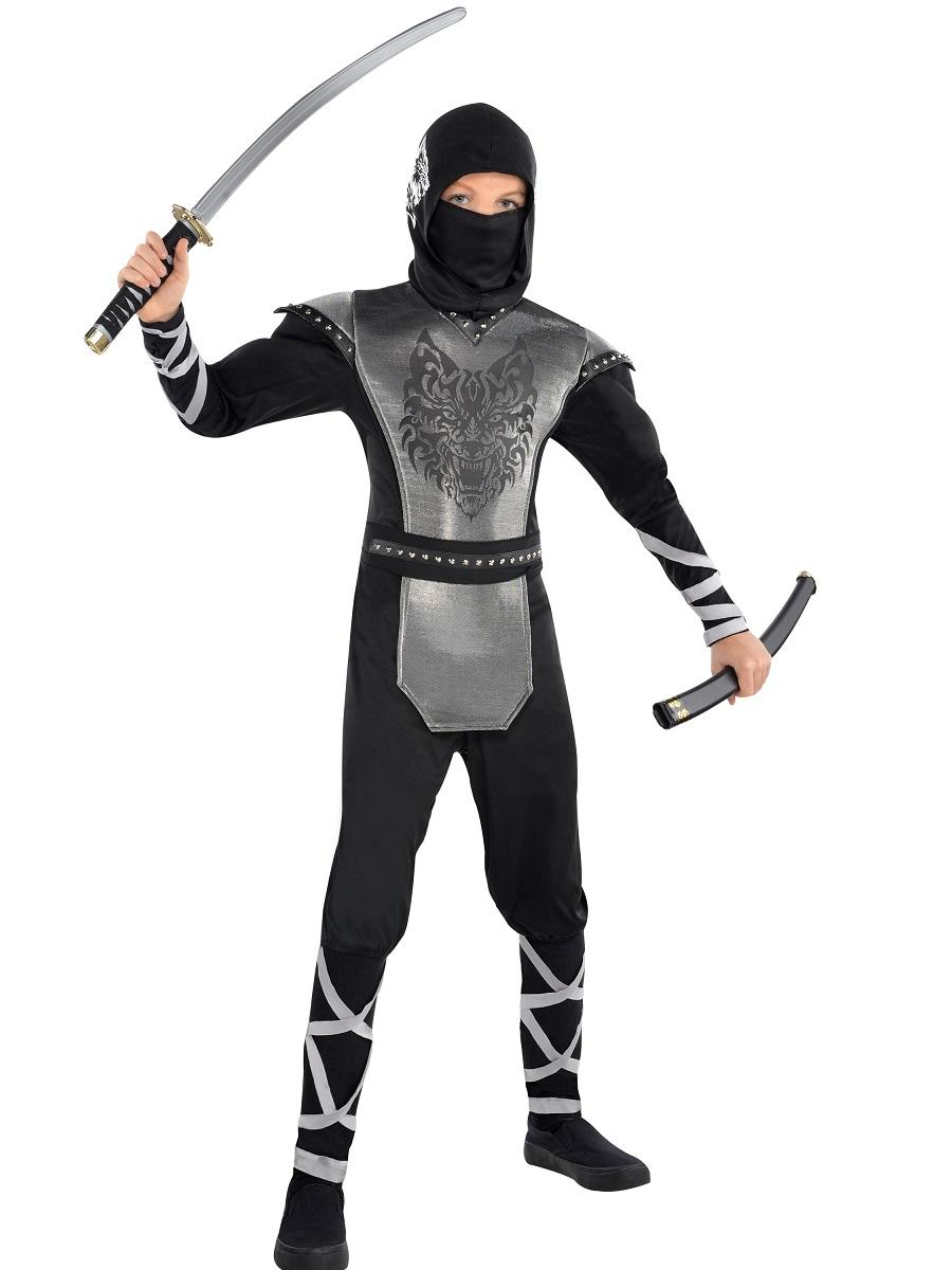 child teen howling wolf ninja costume 999471 fancy dress ball. Black Bedroom Furniture Sets. Home Design Ideas