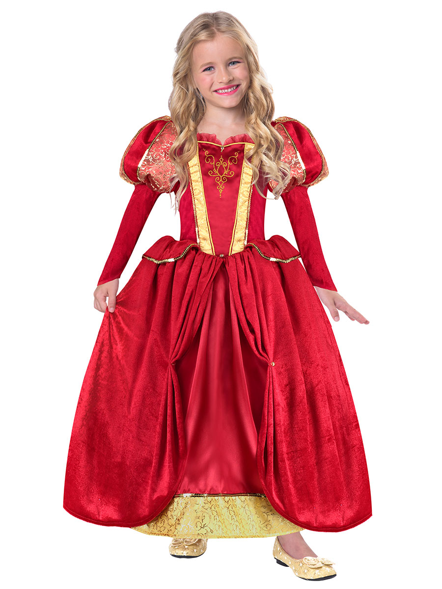 Child Medieval Queen Costume - TRMQ3 - Fancy Dress Ball