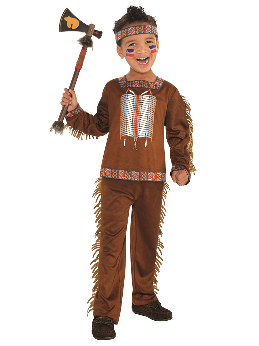 American indian boy toddler costume