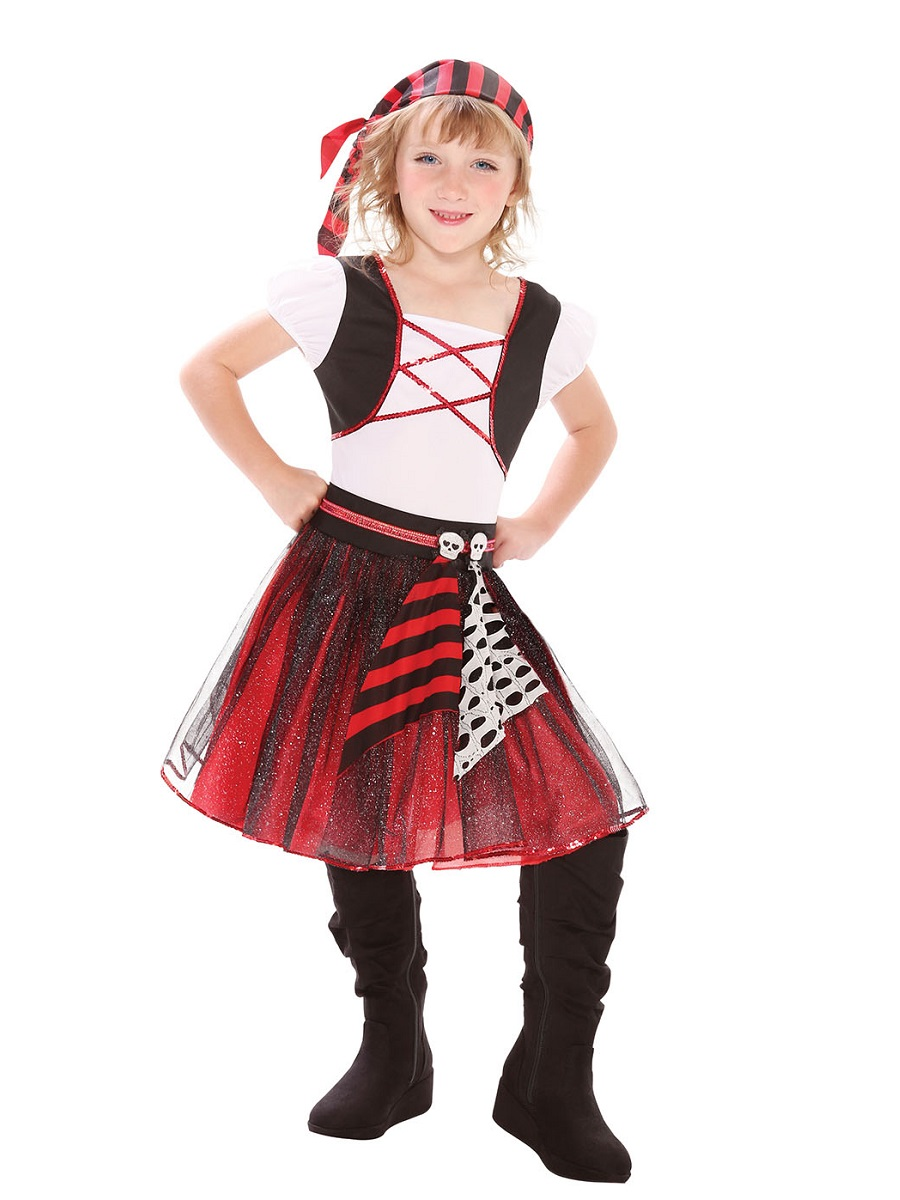 Child Punky Pirate Girl Costume - CC294 - Fancy Dress Ball - photo#27
