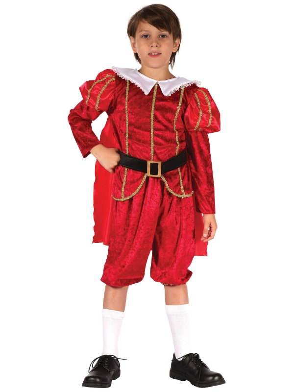 Child Tudor Prince Costume - CC300 - Fancy Dress Ball