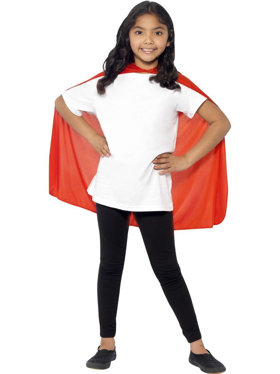 Child Super Hero Red Cape 44076 Fancy Dress Ball