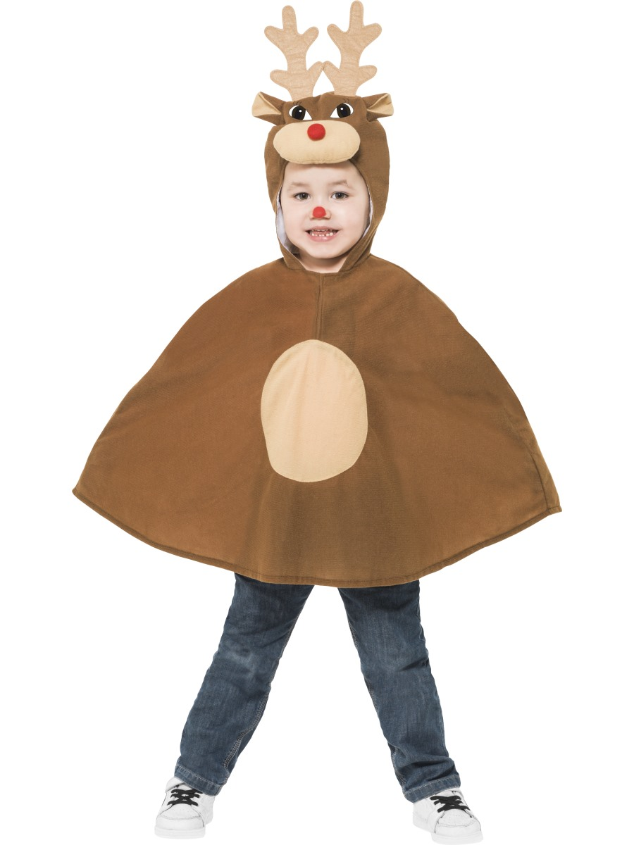 Child Reindeer Poncho 39797 Fancy Dress Ball