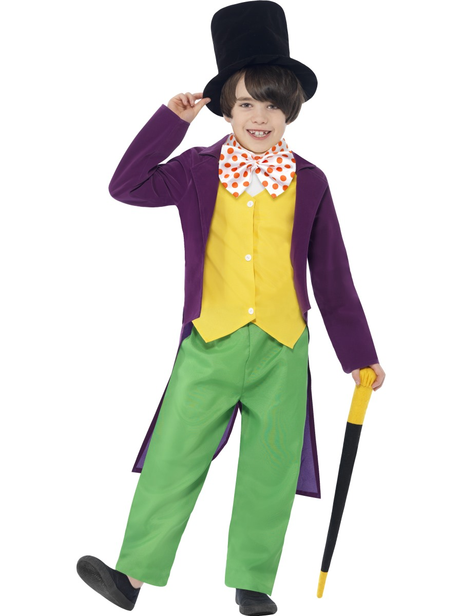 Christmas fancy dress ideas list - Child Roald Dahl Willy Wonka Costume 27141 Fancy Dress Ball