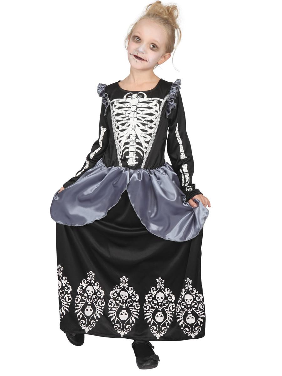 Child Skeleton Princess Costume Cf134 Fancy Dress Ball