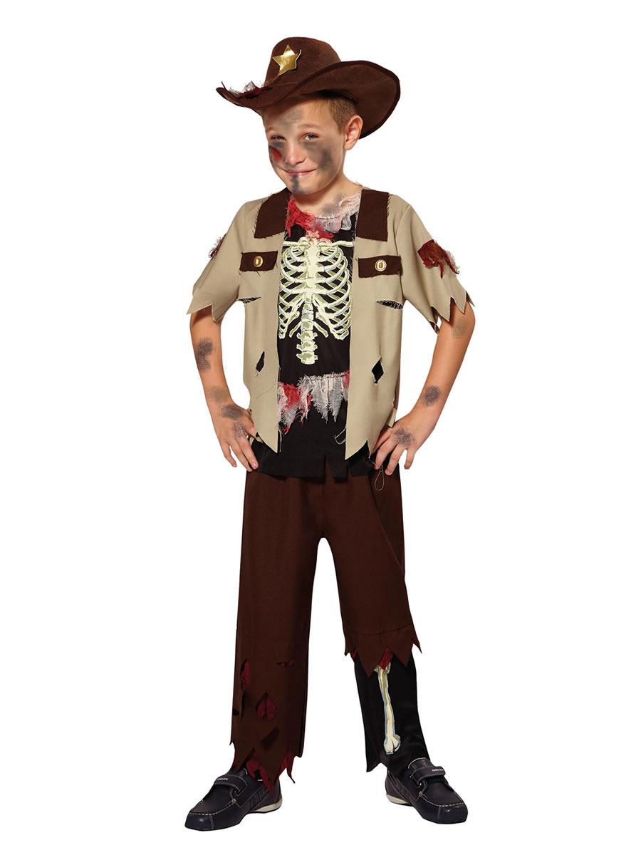 Child Skeleton Sheriff Costume Cf019 Fancy Dress Ball