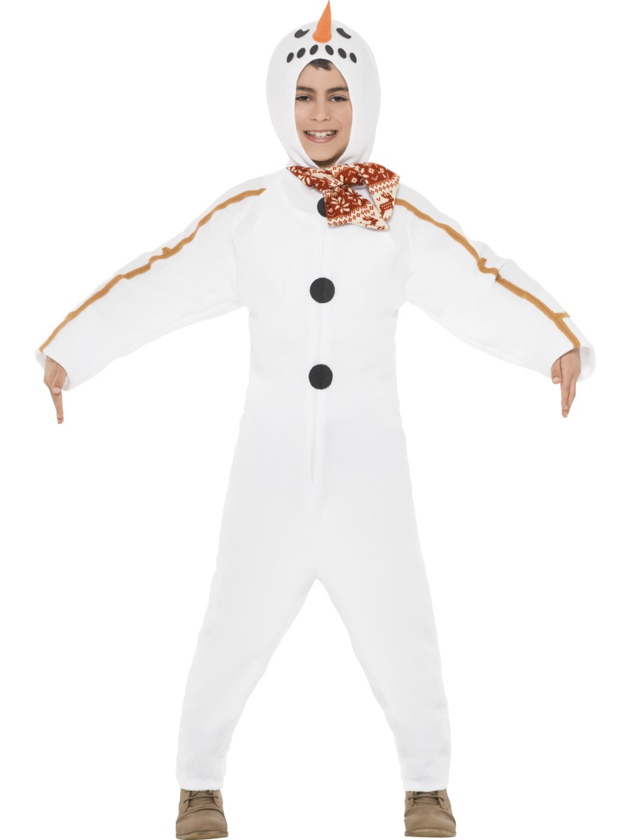 Child Snowman Onesie Costume - 39799 - Fancy Dress Ball 35e68103f022