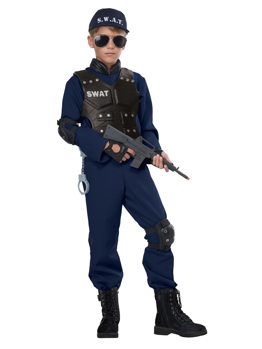 Child Unisex Junior Swat Costume 00592 Fancy Dress Ball