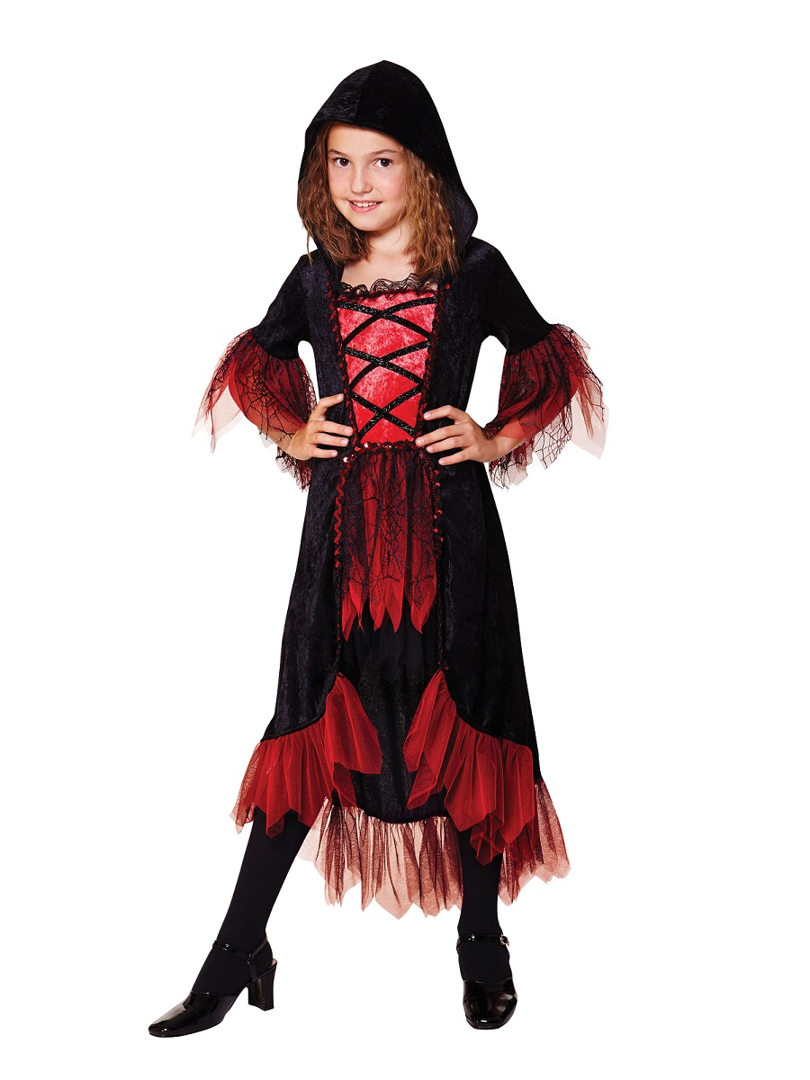Child V&ire Girl Costume  sc 1 st  Fancy Dress Ball & Child Vampire Girl Costume - CC561 - Fancy Dress Ball