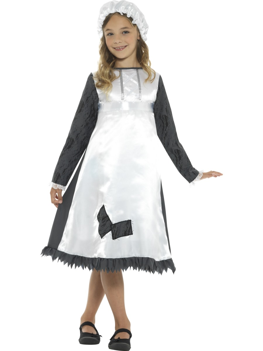 child victorian maid costume  42997  fancy dress ball