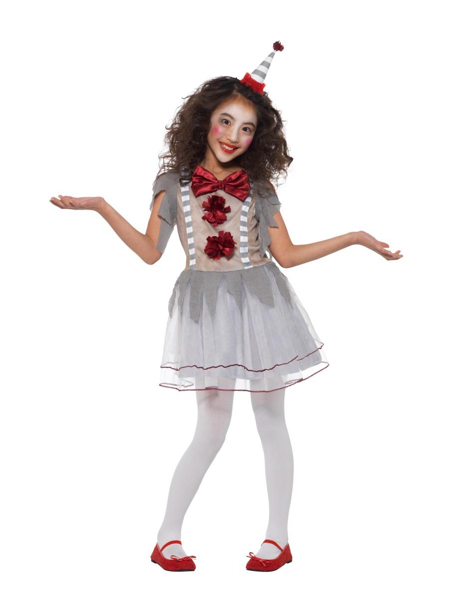 Child Vintage Clown Girl Costume 49825 Fancy Dress Ball
