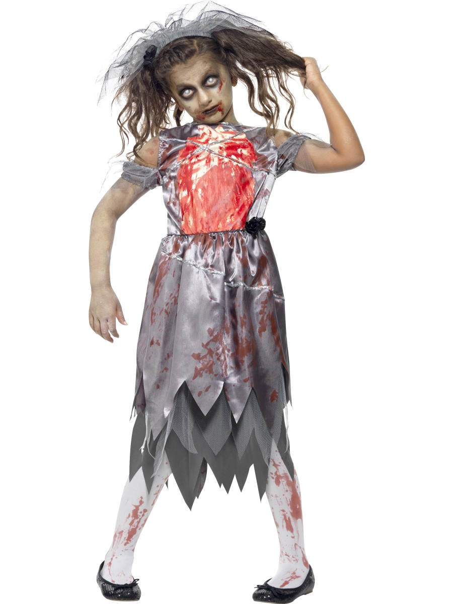 Child zombie bride costume 43027 fancy dress ball - Deguisement horreur femme ...