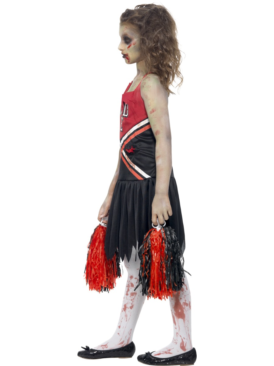 child zombie cheerleader costume back view view full image