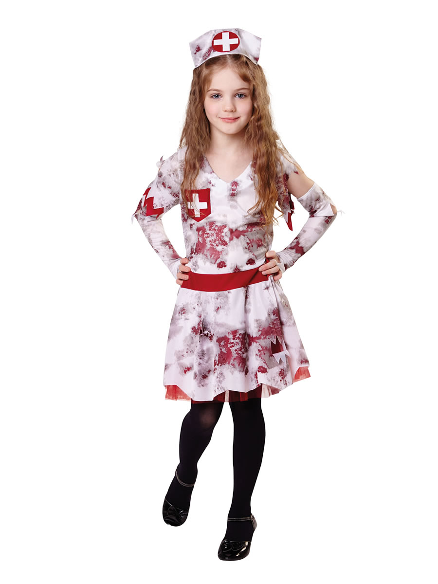 40b799fd4effa Child Zombie Nurse Costume - CF013 - Fancy Dress Ball