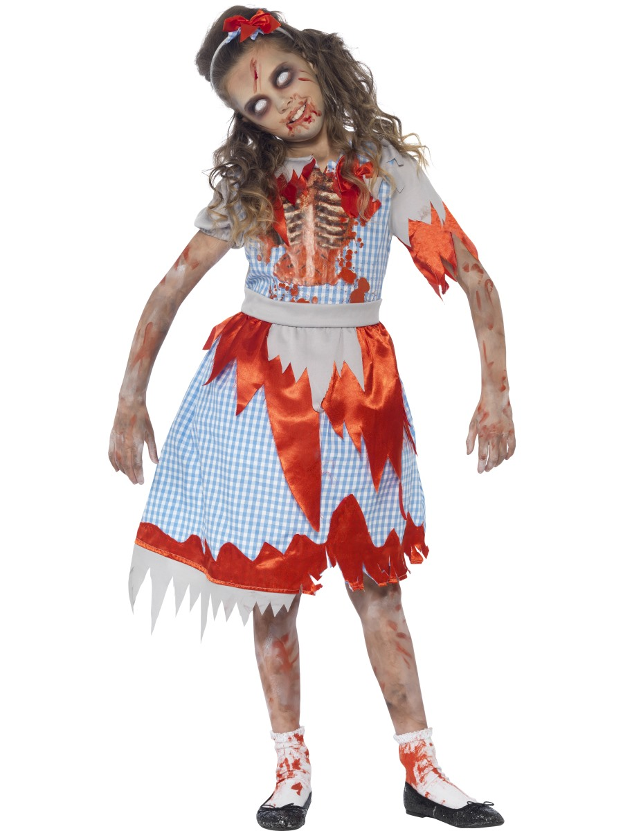 Halloween Costumes For Kids Girls Zombie.Child Zombie Country Girl Costume