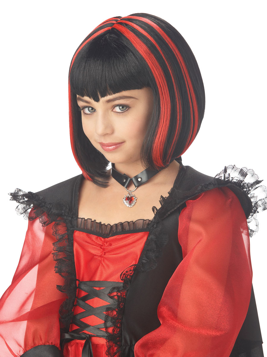 Vampire Girl Wig 70513 Fancy Dress Ball