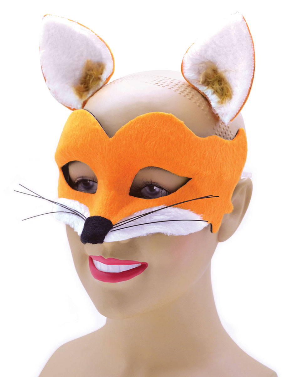 Childrens Fox Mask And Ears Em713 Fancy Dress Ball