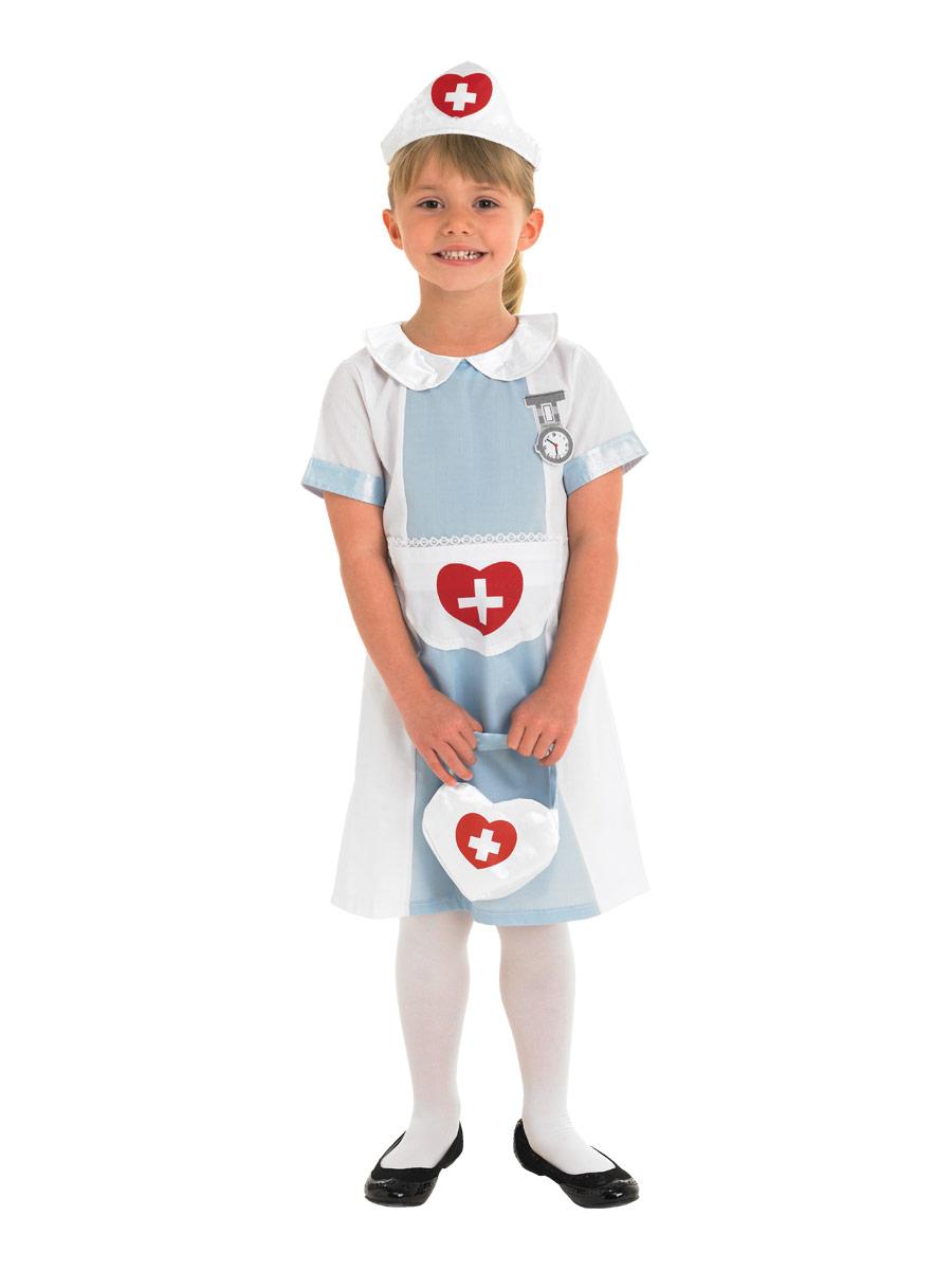 Nurse Dress Costume Kids Girls