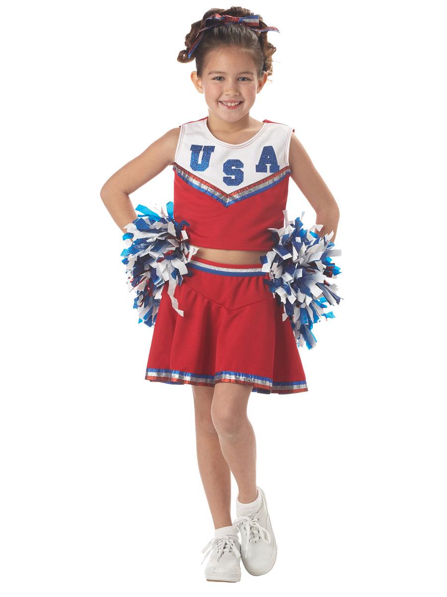 Child Patriotic Cheerleader Costume - 00411 - Fancy Dress Ball