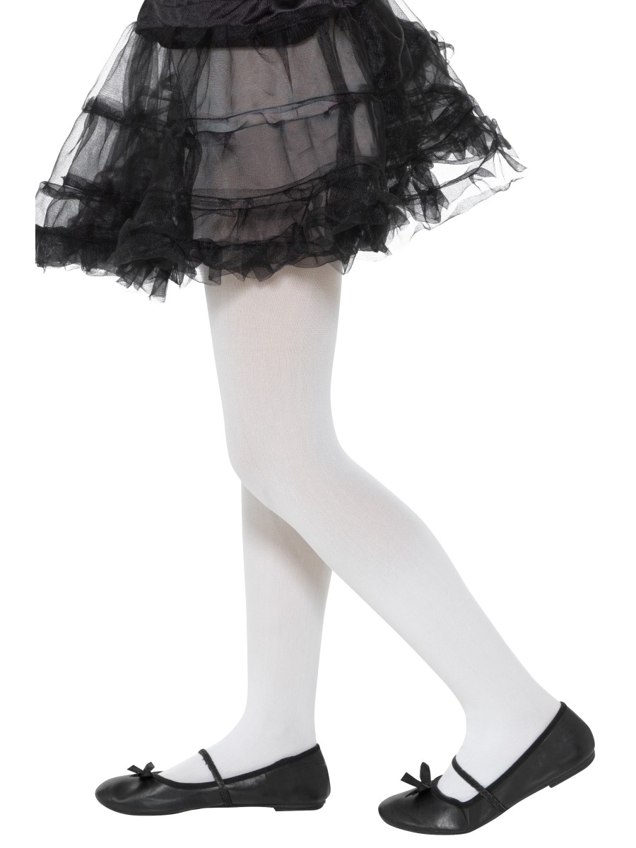 09e6217deedf Childs Opaque White Tights - 49794 - Fancy Dress Ball