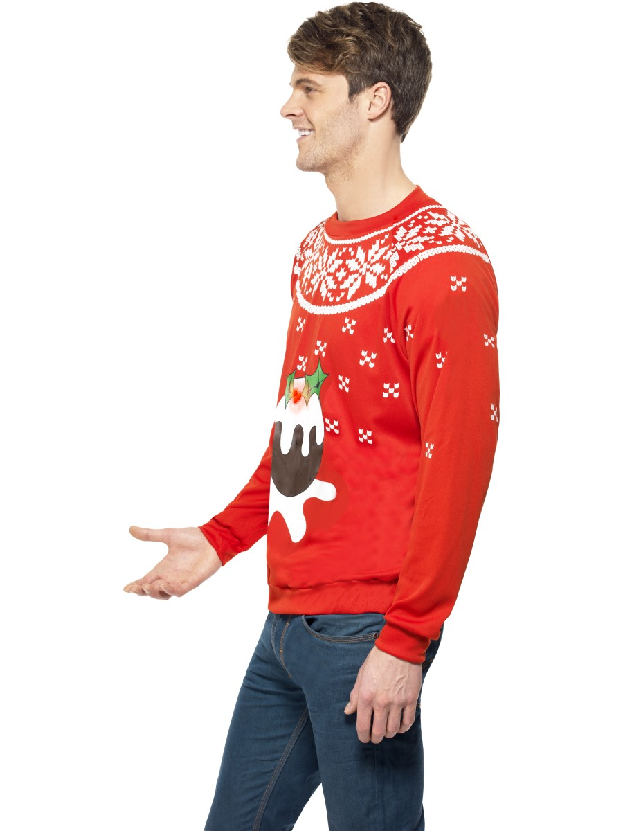 Adult christmas pudding jumper 33804 fancy dress ball