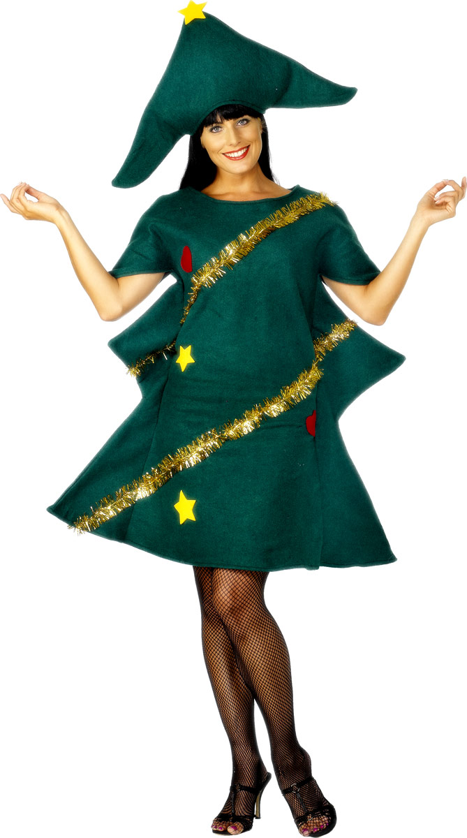Adult Christmas Tree Costume 28265 Fancy Dress Ball