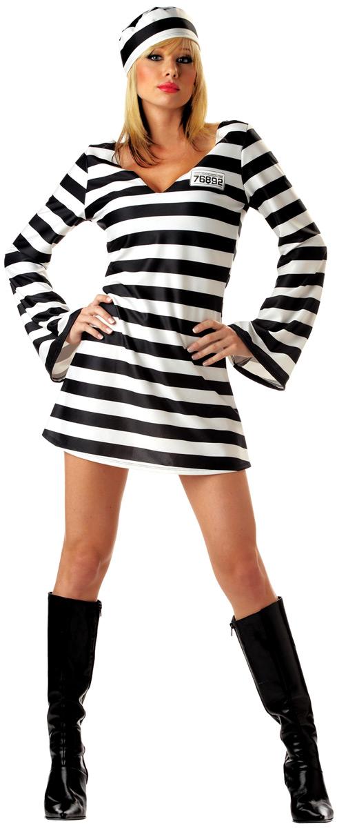 adult convict chick prisoner costume