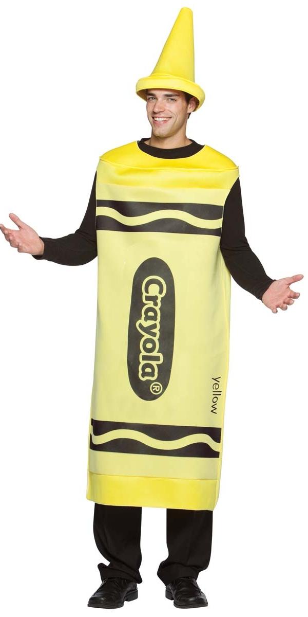 Adult Male Yellow Crayola Crayons Costume 4450102