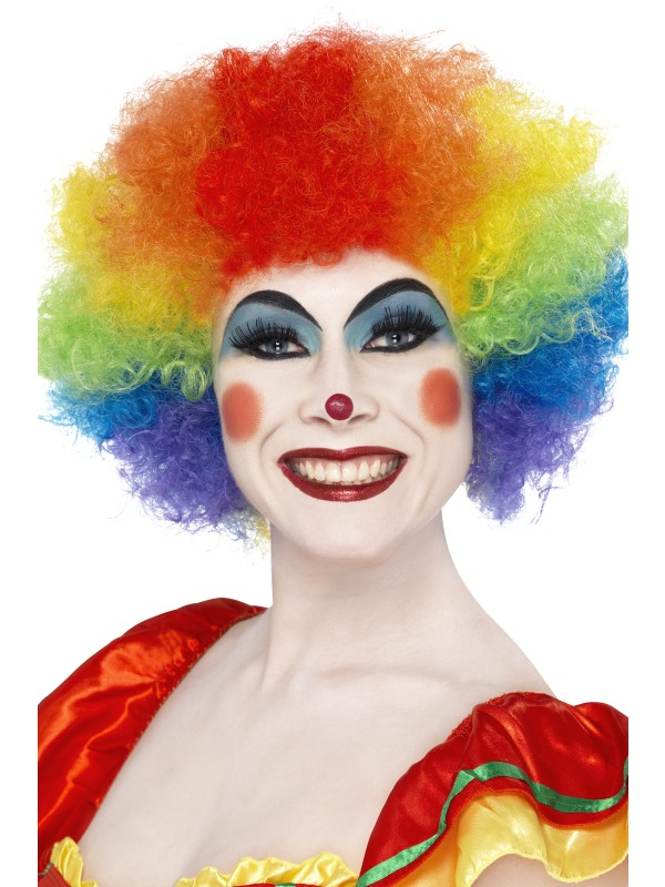 crazy clown rainbow wig 42088 fancy dress ball. Black Bedroom Furniture Sets. Home Design Ideas