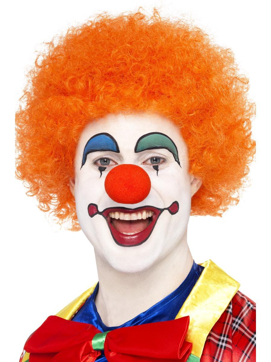 Crazy clown wig orange 42085 fancy dress ball - Clown schminken bilder ...